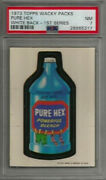 1973 Topps Wacky Packages Pure Hex 1st Series White Back Psa 7 Nm Card