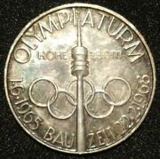 1965 - 1968 Munich Olympic Tower Construction Medal Bavaria Germany Coin Token