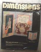 Dimensions Needlepoint Baby Picture Frame / Birth Record 2170 Nip
