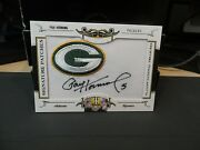 National Treasures Signature Patches Autograph Packers Paul Hornung 21/26 2008