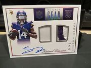National Treasures Nfl Gear Autograph Jersey Vikings Stefon Diggs 34/49 2015