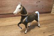 Vintage Rare 1950-60's Hard Plastic Horse 7 3/4 Tall Marked With S No. 2155