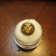 Gilt Brass Confederate Navy Vest Button Non Dug And Beautiful