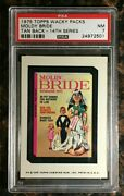 1975 Topps Wacky Packages Moldy Bride 14th Series Rare Tan Psa 7 Nm Card Low Pop