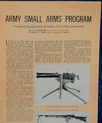 Article Army Small Arms Program Stoner 63 Weapons System... 8-p Magazine 1965