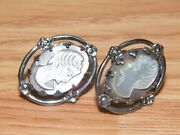 Dixelle Sterling Victorian Collectible Fashion / Costume Jewelry Earrings Read