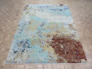8'11 X 11'9 Hand Knotted Multi Colored Modern Abstract Oriental Rug Wool G6926