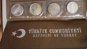 Republic Of Turkey 1960-1972 Mint Set Of 4 Silver Coins,proof
