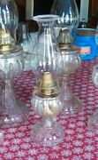 Antique Oil Lamp Turkey Foot Footed Finger Lamp Circa 1893 U.s. Glass