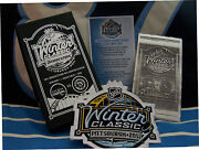 🏒pittsburgh Penguins Winter Classic Metal Ticket Coa Box And Patch🏒