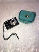 Black Olympus Fe-46 12 Megapixel Digital Camera With Blue Carrying Case