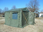 Military Surplus 11x11 Command Post Tent +floor+ Liner... Used ..good Condition