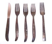 Set Of 5 Twa Airline Flatware Silverplate 4 Forks And 1 Knife Intl. Silver