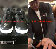 10.5 Rob Gronkowski Autographed Nike Patriots Air Force Ones Shoes Retirement