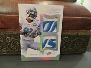 National Treasures Dual Patches Game Worn Jersey Lions Calvin Johnson 1/1 2015