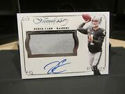 Panini Flawless Silver On Card Autograph Jersey Raiders Derek Carr 07/25 2015