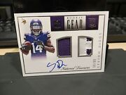 National Treasures Nfl Gear Autograph Jersey Vikings Stefon Diggs 59/99 2015