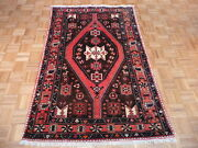 4'7 X 6'10 Hand Knotted Brown Antique Persian Hamadan Oriental Rug G2339