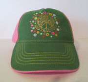 Womenand039s John Deere Hat Cap Peace Love Tractors. Green And Pink Flowers L/xl