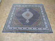 10 X 10 Square Hand Knotted Light Blue Persian Mahi Tabrez Rug Wool And Silk G4783