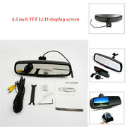 4.3 Metal 170 Degrees Auto Dimming Lcd Rear View Mirror Monitor W/ Rear Camera