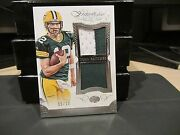Panini Flawless Blue Dual Patches Jersey Packers Aaron Rodgers 15/20 2015