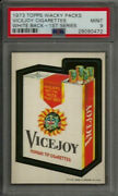 1973 Topps Wacky Packages Vicejoy Cigarettes 1st Ser. White Back Psa 9 Mint Card