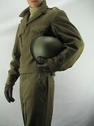 Wwii U.s. Army Officer's Uniform, Jacket Pant Hat, Paper Message From 1946