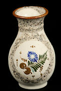 Mexican Ceramic Vase Hand Made/painted Folk Art Collectible Decorative Initial