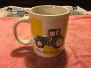 John Deere Tractor Licensed Product Coffee Mug Cup White And Green Colors 0050