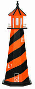 Amish Crafted Wood Garden Lighthouse - Sports Team Colors - Baltimore Orioles