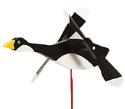 Amish Crafted Whirlybird Whirligig Garden Stake Wind Spinner - Canadian Goose