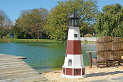 Amish Handcrafted - Poly Garden Lighthouse - Montauk - Size And Lighting Options