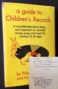 Philip Eisenberg / Guide To Childrenand039s Records Complete Guide Signed 1st Ed 1948