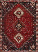 Antique Collectable Nomadic Tribal 7x10 Wool Abadeh Oriental Area Rug 9and0399 X 7and0391