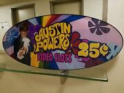 Vtg/translucent 4-ft Casino Sign Poster Austin Powers Video Slots Mike Myers