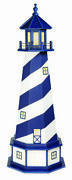 Wood Garden Lighthouse Cape Hatteras Patriot Blue And White Electric Base Lighting
