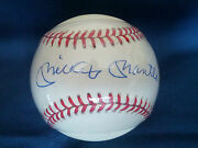 Mickey Mantle And Frank Robinson Signed Autographed Ball Steiner Triple Crown