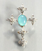 Susan Foster 18kt White Gold And Opal Cross Pendant