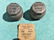 1946-1954 Chevrolet 1 And 1-1/2 Ton Truck Nos Front Wheel Hub Grease Cap Pair