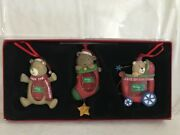 Kohls Babyandrsquos First Christmas Set Of 3 Resin Bears Photo Personalized Ornaments