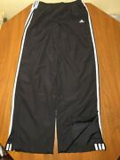 Adidas Womenand039s M Track Run Jog Workout Exercise Pants Mesh Lined Zippered Legs