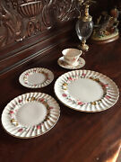 Royal Doulton English Fine Bone China H4976 Rosell Pattern Service For 12
