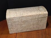 Antique Vintage Small Wooden Dome Top Chest Trunk
