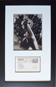 Amelia Earhart Signed First Day Envelope - Framed Aviation Collectibles