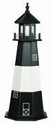 Amish Handcrafted Wood Garden Lighthouse Tybee Island - Size And Lighting Options