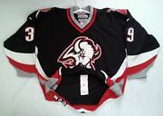 Vintage Ccm Center Ice Buffalo Sabres 39 Hasek Authentic Hockey Jersey Size 54