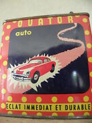 Old Tin Oil Can Old Vintage Auto Car Ouator Sports Car Transports Antique Retro