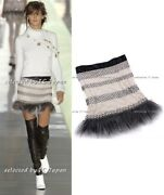 03a 03f Fur Pearl Fringe Skirt Runway Collection Fr36 Fr38