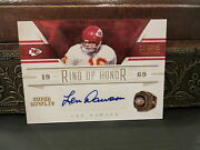 National Treasures Ring Of Honor Autograph Chiefs Len Dawson 01/15 2011